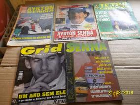 2 Vhs Ayrton Senna Para Sempre + 5 Revista Poster Original