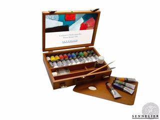 Caja Deluxe 12 Oleos + Accesorios Sennelier Set De Pintura