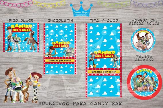 Toy Story Golosinas Personalizadas Etiquetas Candy Bar X 100