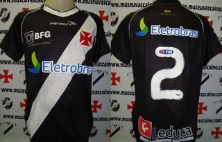 Camisa Futebol Vasco Penalty # 2 Thiago Feltri 2012 De Jogo