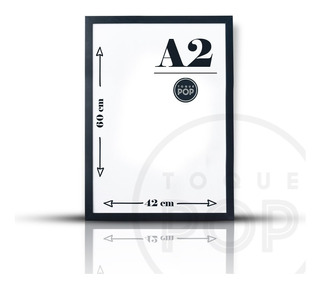 Quadro Com Moldura Grande A2 60x42 Poster C/ Vidro 1ªlinha