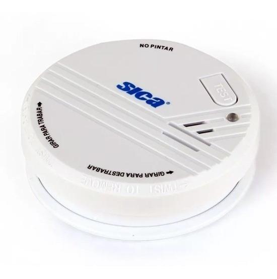 Detector De Humo Fotoelectrico A Baterias 9v Sica