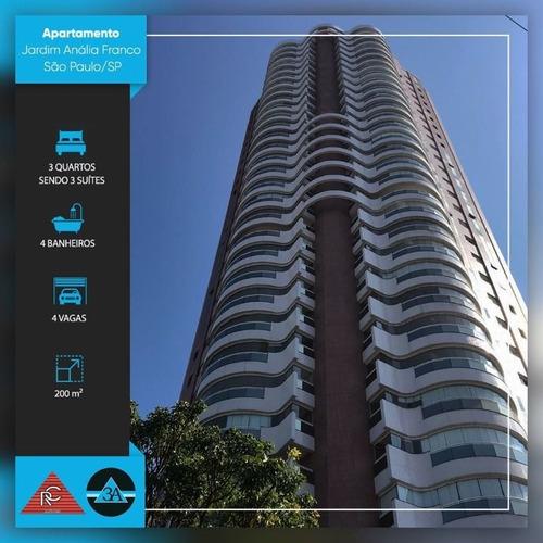 Imagem 1 de 30 de Apartamento Com 3 Dormitórios À Venda, 200 M² Por R$ 2.300.000 - Jardim Anália Franco - São Paulo/sp - Ap6411