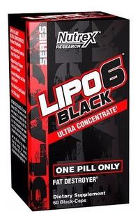 Lipo 6 Black Uc Nutrex Termogênico Original Eua 60 Capsulas