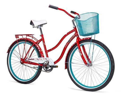 Bicicleta Mercurio Cruiser Urbana Rodada 26 Con Canastilla