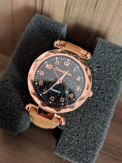 Relógios Feminino De Pulso Marrom Quartzo Moda Feminina