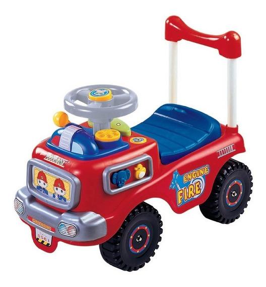 Montable Carro Impulso Bombero Rojo My-5561b My-toy