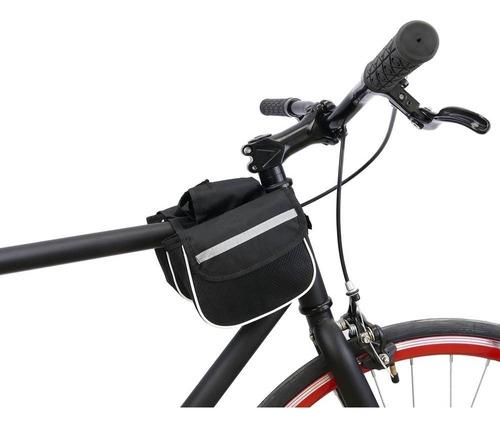 Imagen 1 de 8 de Alforja Delantera Al Caño Bicicleta Refractiva Red Bolso