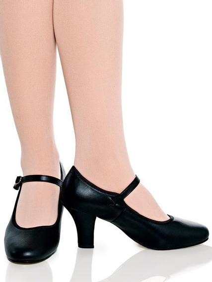 Sapato Para Dança De Salão Em Couro Modelo Boneca (capezio)