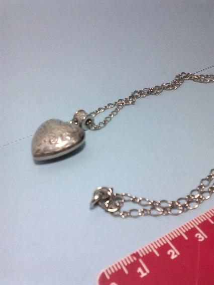 Colar Antigo Coração (bijouteria)
