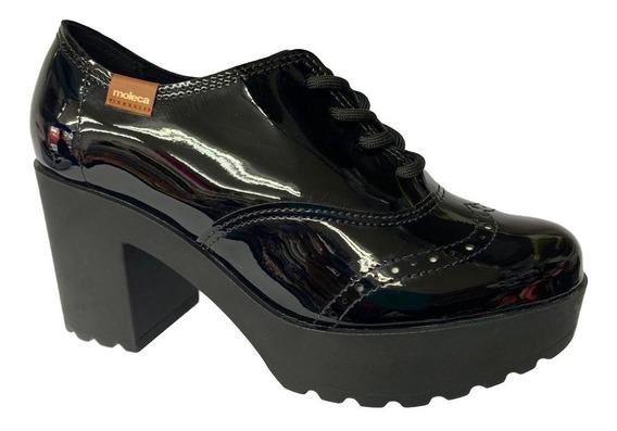 Sapato Oxford Tratorado Moleca Salto Médio Grosso 5647107