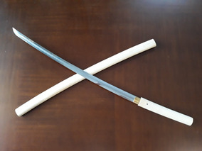 Espada Samurai Katana Shirasaya Aço1095 Hamon Prontaentrega