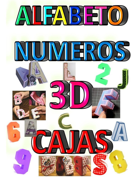 Kit Imprimible Letras Y Números 3d Box En Powerpoint !!!