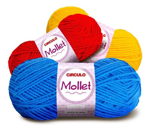 Lã Mollet Círculo 40g -  Kit 10 Novelos * Super Promoção *