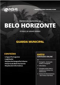 Apostila Guarda Municipal De Bh 2019 - Completa