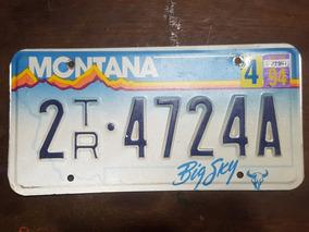 Placa Automotiva Americana De Montana Usa De 1994