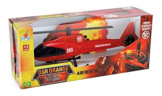 Brinquedo Helicóptero Bombeiros Super Resgate Orange Toys