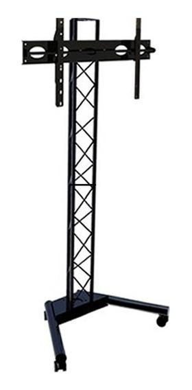 Pedestal Para Tv Suporte Tv Chao Com Roda Torre Triangular