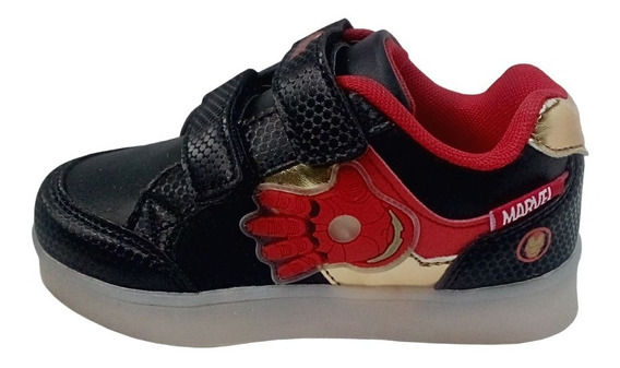 Marvel Zapatillas De Iron Man Con Luces Originales 24 Al 30