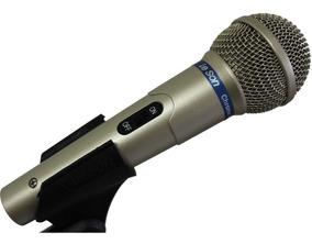Microfone Dinâmico Leson Ls-58 Gold Com Fio
