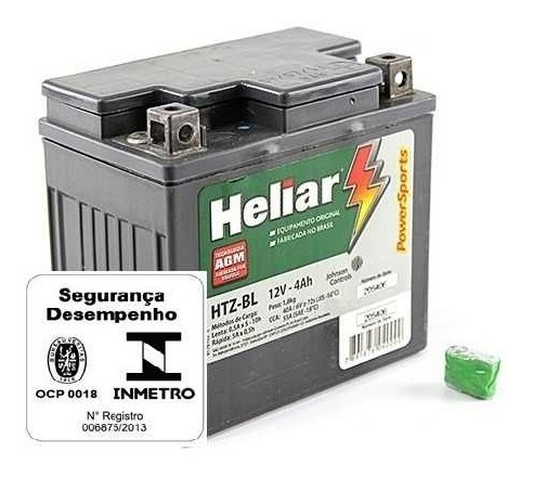 # Bateria De Moto Heliar Htz5l 12v 4ah Cg125/150 Biz/100/125