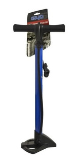 Inflador De Pie Bicicleta Acero Valvula Presta Schrader