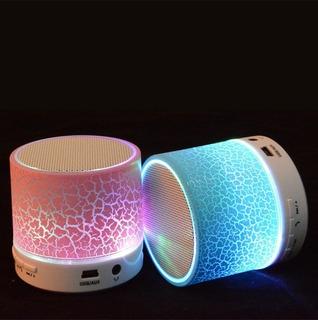 Parlante Parsom Usb Bluetooth Lector Tarjeta Radio Con Luz