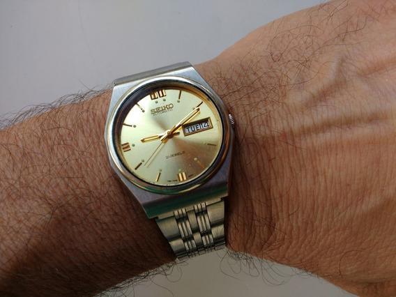 Relógio Seiko 5 Automático Dourado Perfeito Revisado