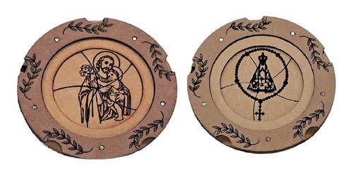 Imagem 1 de 4 de Porta-terço Duas Unidades Imagem S. José E N. Sra. Aparecida