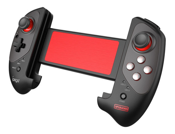 Gamepad Pg-9083s Telescópico Bluetooth Com Bastão Vermelho