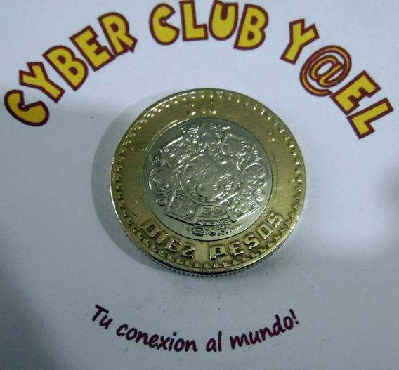 Rara Moneda Coleccionable De 10 Pesos Gráfila Invertida 2007