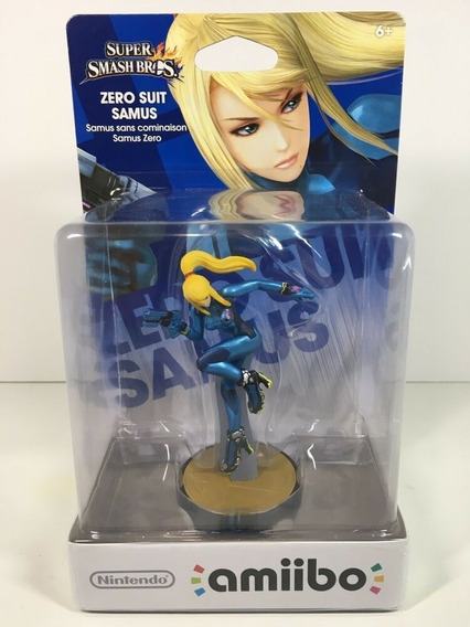 Amiibo Zero Suit Samus Nintendo Wiiu 3ds Super Smash Bros