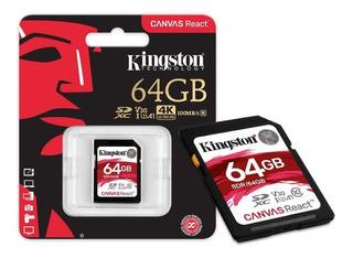 Cartão Memória Sdxc 64gb Canvas React - Sdr/64gb - Kingston