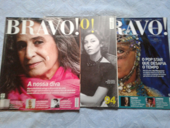 Revista Bravo - A Nossa Diva 146 - Pop Star 129 - Poder Do E