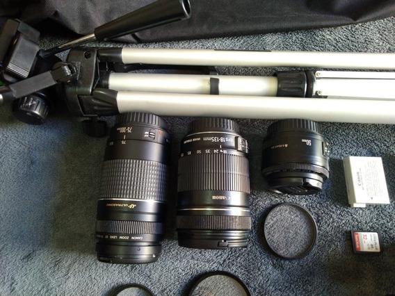Canon T4i Mais Acessórios Para Fotografia Profissional