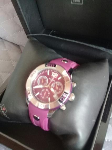 Reloj Para Dama Morado Nivada