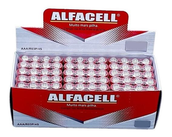 Pilha Aaa Palito Alfacell 3a Caixa 40un Frete Grátis