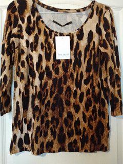 Remera Portsaid Animal Print Talle Xs Sin Uso
