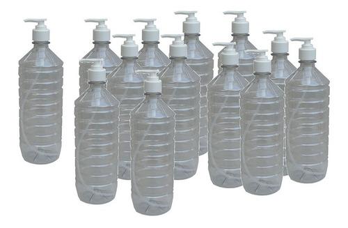 Botella Bomba Para Jabon / Alcohol Gel Pet 1 Litro
