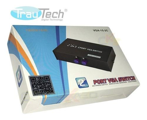 Switch Selector Vga De 2 Entradas X 1 Salida C/control Manua
