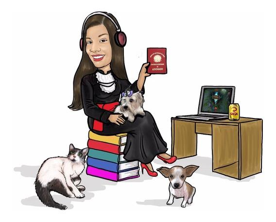 Promoção Caricaturas Digital Personalizada P Sua Formatura