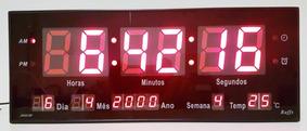 Relógio De Led Para Parede - P - Vermelho