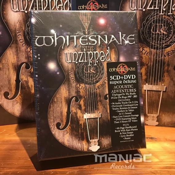 Whitesnake Unzipped Edicion Box Set 5 Cds 1 Dvd