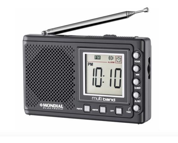 Rádio Portátil Mondial Multi Band Rp-03 Preto - 3v Dc