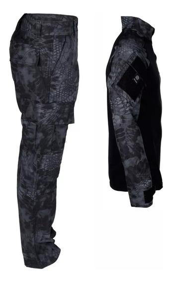 Farda Militar Combat Shirt + Calça Airsoft Paintball Typhon