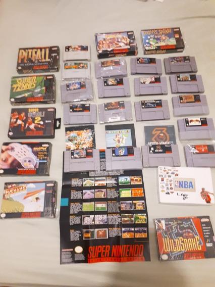 Troco Por Ps4 Coleção Snes Consoles Jogos Super Mario Mk Sf