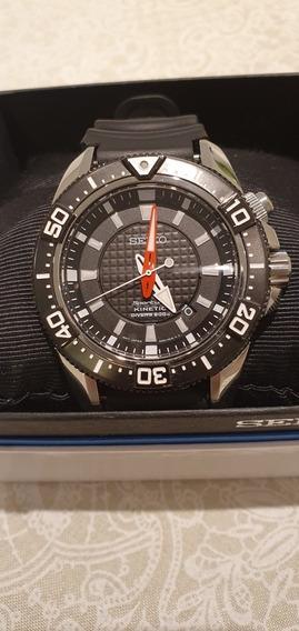 Relógio Seiko Diver Sportura Kinetic Wr 200 Mergulho