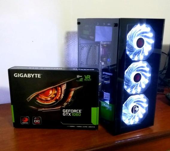 Pc Gamer Intel I3 7100, Gtx 1060 6gb, 8gb Ddr4, Ssd 120 Gb
