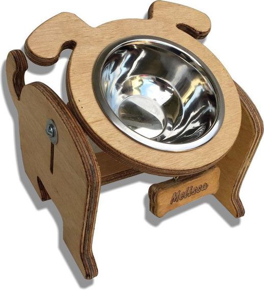 Comedouro Cachorro Ajustável 1 Tigela - Personalizado -frete