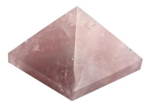 1.5inch Naturales De Cuarzo Rosa Tallada Pirámide De Cristal
